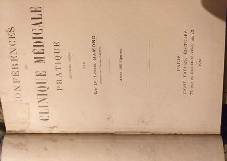 Conferences de clinque medicale pratique, 1929