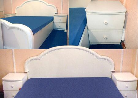 Mobila dormitor CRISTINA, culoare alba - tip Versailles