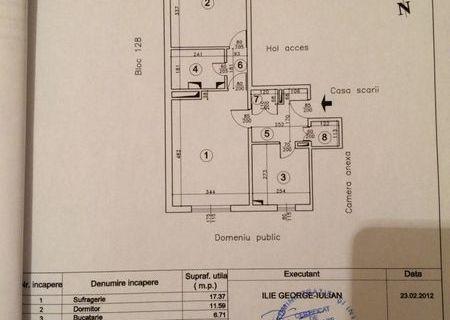 PROPRIETAR vand apartament 2 camere CENTRAL, 49 mp, VEDRE LA PARC