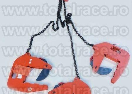 Sisteme de ridicat tuburi beton cu lanturi si clesti reglabili