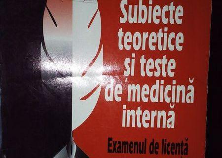 Subiecte teoretice si teste de medicina interna Examenul de Licenta Facultatea de Stomatologie
