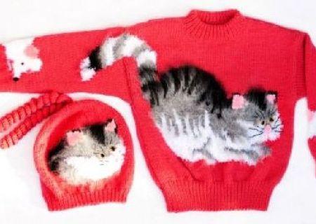 Elen@design tricotaje manuale: set pardesiu si caciulita copii.