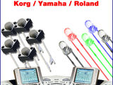 Contacte butoane si LED-uri pentru orgi electronice