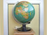 Glob geografic pamantesc iluminat - 33 cm - vintage