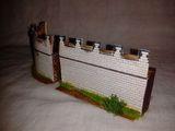 Macheta portiuni zid castru roman piatra, 1:72, diorama