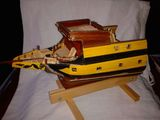 Macheta sectiune proiect prora corabie cu 6 tunuri, 1:50