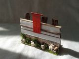 Macheta segment zid castru roman piatra, 1:72, diorama