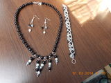 Set perle (colier,bratara si cercei) Handmade