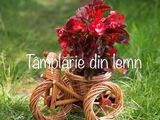 Suport flori Bicicleta si tractor rustica, din rachita