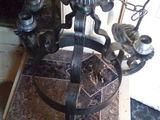 candelabru ,lustra fier forjat cu lant antic